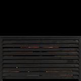 Zwart Houten Tuinscherm Kyoto 160 x 90 CM