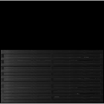 Zwart Houten Tuinscherm Osaka 180 x 93 CM