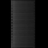 Zwart Houten Tuinscherm Osaka 90 x 180 CM