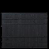 Zwart Houten Tuinscherm Rustik 180 x 138 CM