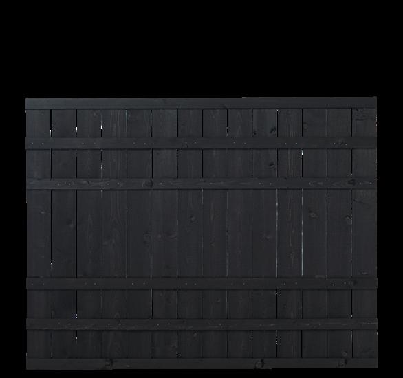 Zwart Houten Tuinscherm Rustik 180 x 138 CM 17542-15 Minimale afname 5 schermen in de mix