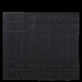Zwart Houten Tuinscherm Rustik 180 x 158 CM