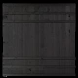 Zwart Houten Tuinscherm Rustik 180 x 180 CM