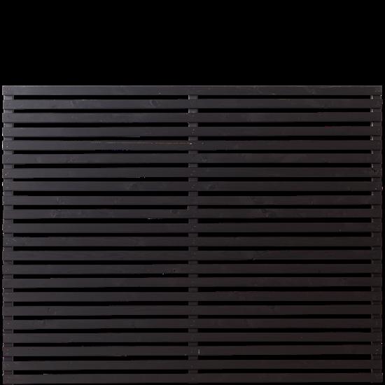 Zwarte Houten Tuinscherm Tokyo 180 x 140 CM 17413-15 PRE-ORDER