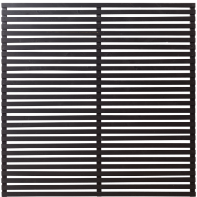 Zwart Houten Tuinscherm Tokyo 180 x 180 CM