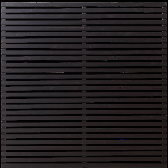 Zwart Houten Tuinscherm Tokyo 180 x 180 CM 17414-15 PRE-ORDER