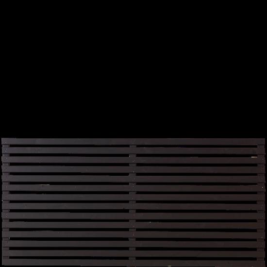 Zwart Houten Tuinscherm Tokyo 180 x 90 CM 17415-15 Minimale afname 5 schermen in de mix