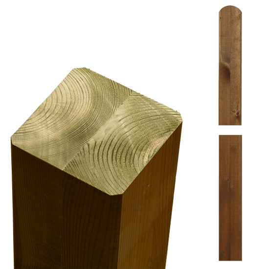 Teak Bruine Tuinpalen Hout 9 x 9 x 148 CM 20363-17