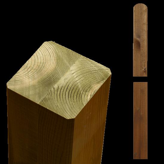Teak Bruine Tuinpalen Hout 9 x 9 x 158 CM 20364-17