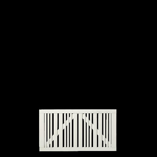 Wit Houten Brede Tuinpoort Classic 150 x 80 CM 17647-13