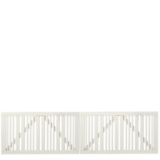 Wit Houten Dubbele Tuinpoort Classic 300 x 80 CM 17649-13