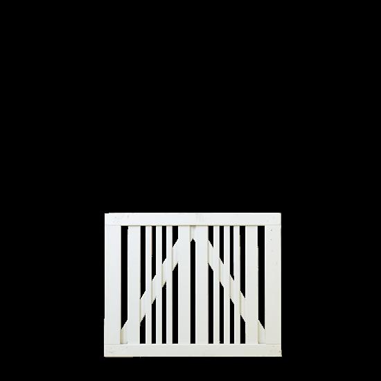 Wit Houten Tuinpoort Classic 100 x 80 CM 17648-13