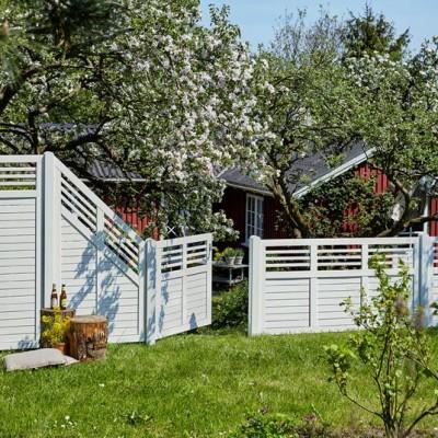 Witte Tuinschermen Decora