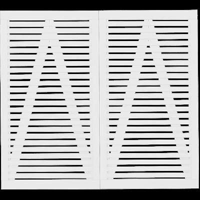 Trendyard Witte Houten Dubbele Tuindeur Tokyo 200 x 180 CM