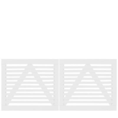 Witte Houten Dubbele Tuinpoort Tokyo 200 x 90 CM