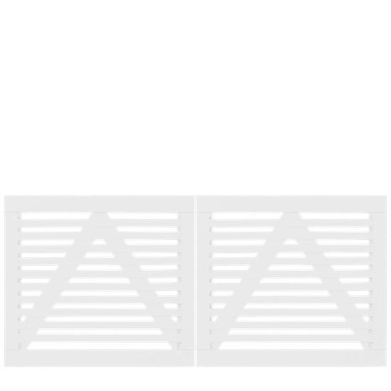 Witte Houten Dubbele Tuinpoort Tokyo 200 x 90 CM 17406-13