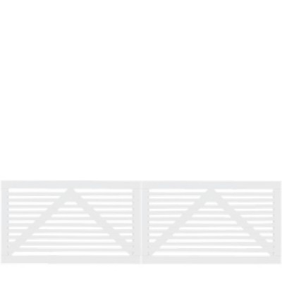 Witte Houten Dubbele Tuinpoort Tokyo 300 x 90 CM