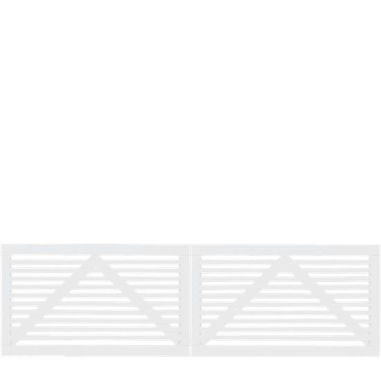 Witte Houten Dubbele Tuinpoort Tokyo 300 x 90 CM 17405-13