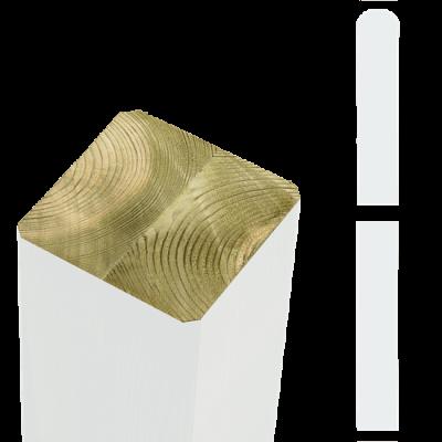 Witte Tuinpalen Hout 9 x 9 x 128 CM