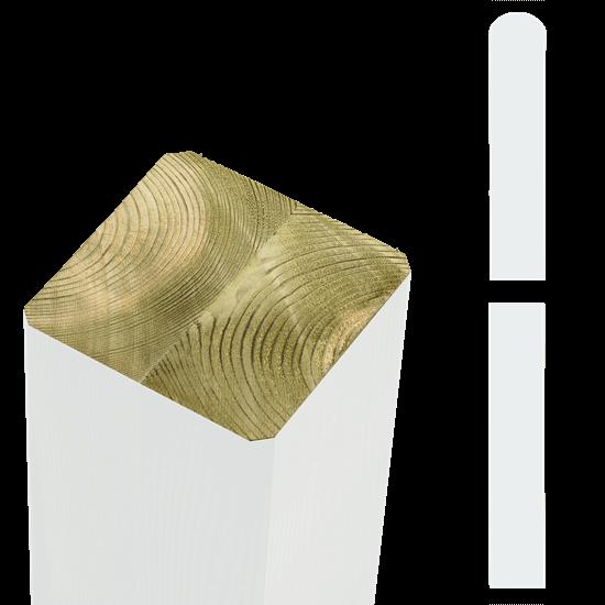 Witte Tuinpalen Hout 9 x 9 x 128 CM 20362-13