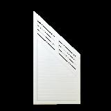 Wit Houten Tuinscherm Met Schuine Kant Decora 90 x 180/95 CM