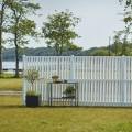 Wit Houten Tuinscherm Nagano 180 x 180 CM 17474-13 PRE-ORDER Minimale afname 5 schermen in de mix