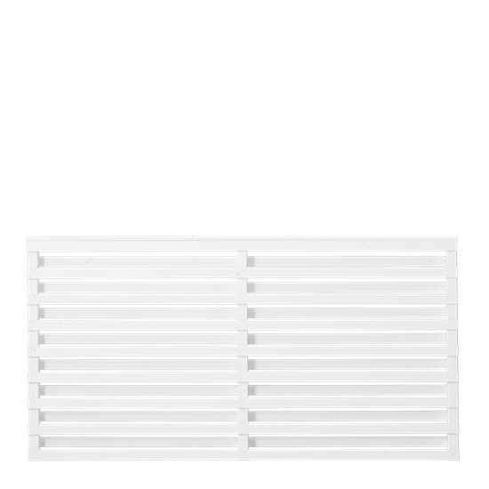 Witte Houten Tuinscherm Osaka 180 x 93 CM 17455-13 PRE-ORDER Minimale afname 5 schermen in de mix