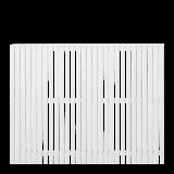 Wit Houten Tuinscherm Sendai 180 x 140 CM