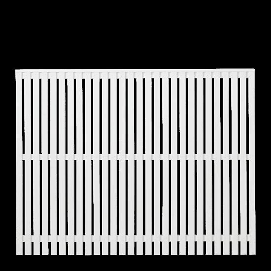 Wit Houten Tuinscherm Sendai 180 x 140 CM 17443-13