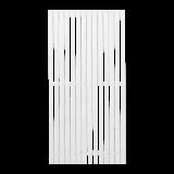 Wit Houten Tuinscherm Sendai 90 x 180 CM