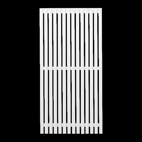 Wit Houten Tuinscherm Sendai 90 x 180 CM 17448-13