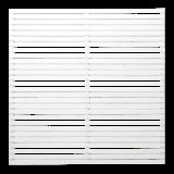 Witte Houten Tuinscherm Tokyo 180 x 180 CM