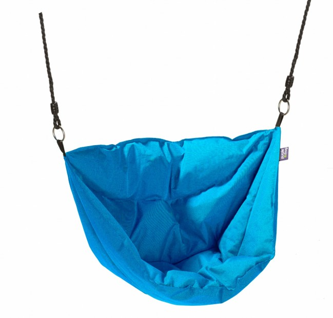 "Hangstoel Aqua Blauw ""Moonboat"" Outdoor Stof 498005"