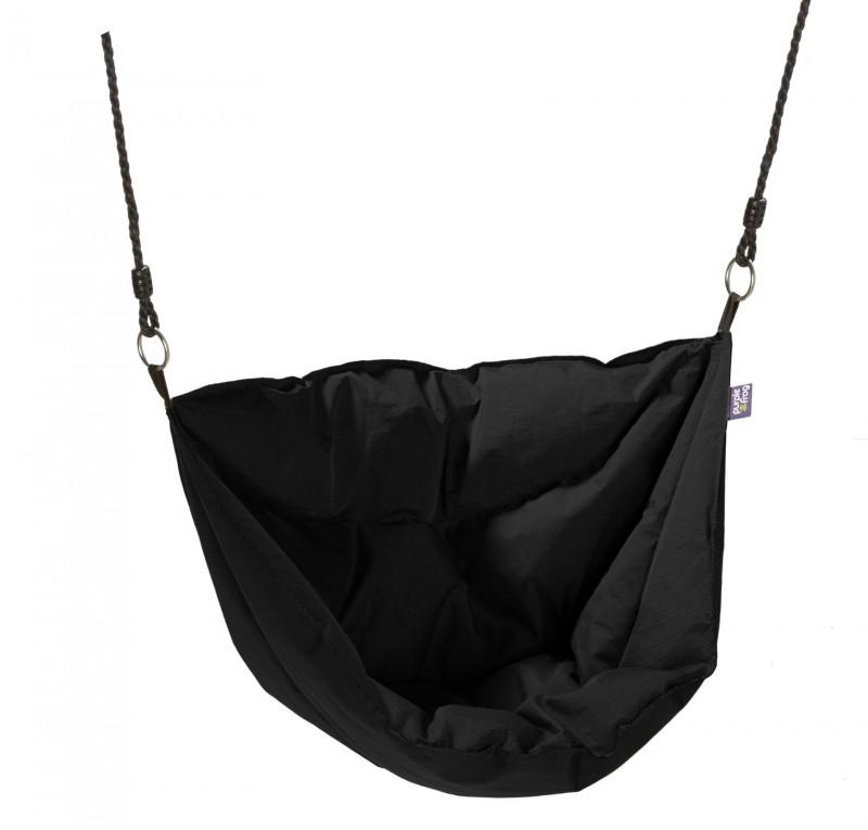 Hang Schommelstoel Voor Buiten.Hangstoel Zwart Moonboat Outdoor Stof Hangstoel Buiten