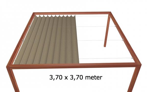Harmonicadoek 3,70 x 3,70 meter Wavesail 3737