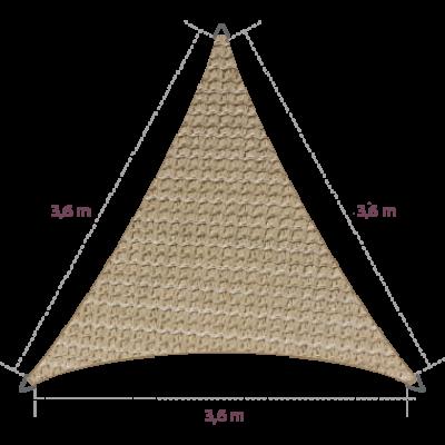 Driehoek 3,60 x 3,60 x 3,60 meter