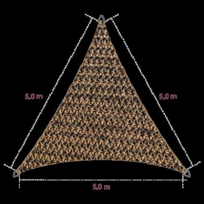 Driehoek 5,00 x 5,00 x 5,00 meter