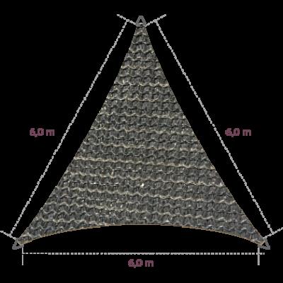 Driehoek 6,00 x 6,00 x 6,00 meter