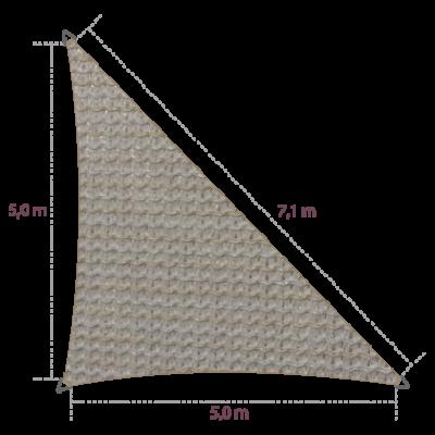 Driehoek 90º 5,00 x 5,00 x 7,10 meter