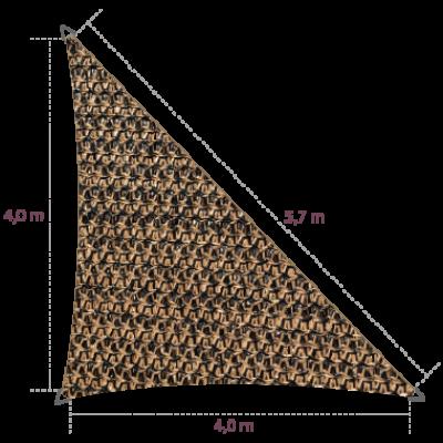 Driehoek 90º 4,00 x 4,00 x 5,70 meter