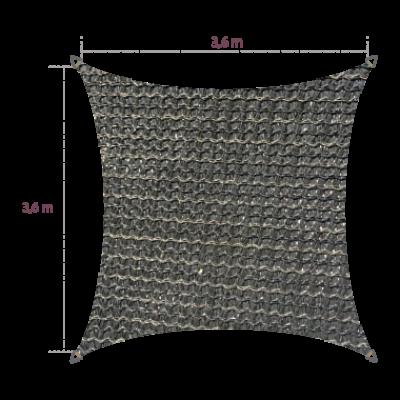 Vierkant 3,60 x 3,60 meter