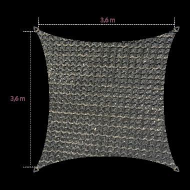 Vierkant 3,60 x 3,60 meter Square 3,60