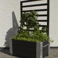"""Verrijdbare Plantenbak """"Cubic"""" Met Klimrek 130 CM Zwart 18239-15"""