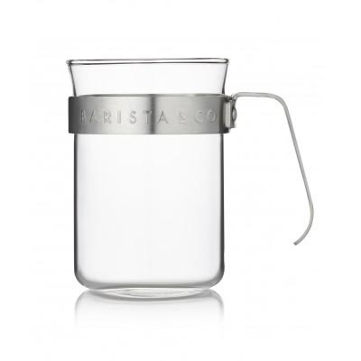 Barista & Co Koffiebeker Glas & Zilver - Set van 2 stuks