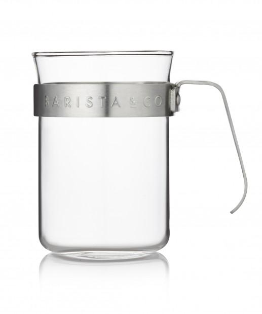 Barista & Co Koffiebeker Glas & Zilver - Set van 2 stuks Electric Steel