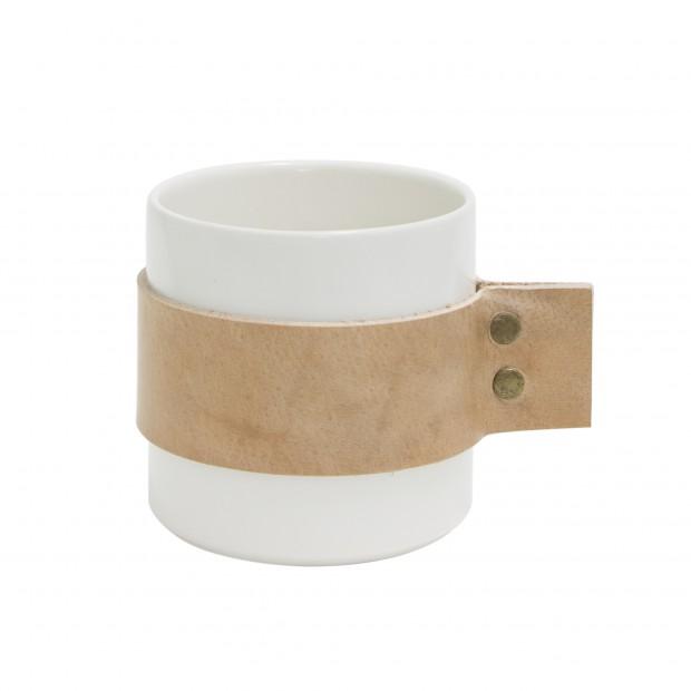 """TAK Design Beker """"Wrap Me Morgan"""" Natural Leer TD015986"""