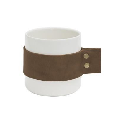 "TAK Design Beker ""Wrap Me Morgan"" Donker Bruin Leer"