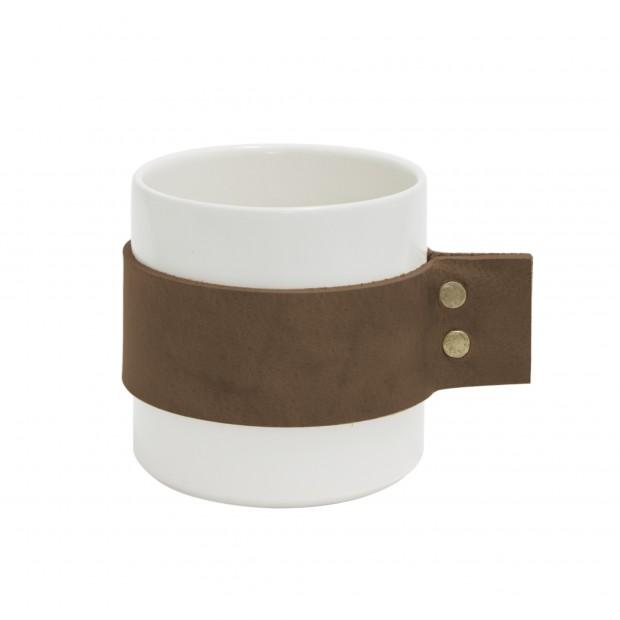 "TAK Design Beker ""Wrap Me Morgan"" Donker Bruin Leer TD016006"