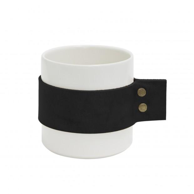 "TAK Design Beker ""Wrap Me Morgan"" Zwart Leer TD016013"
