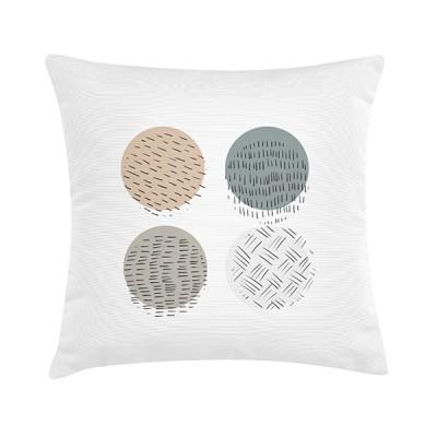 """TAK Design Sierkussen """"Jamille"""" 45 x 45 cm - Wit / Stippen Patroon"""